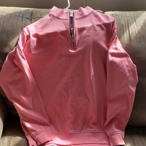 Peter Millar Me 's Pink Quarter Zip